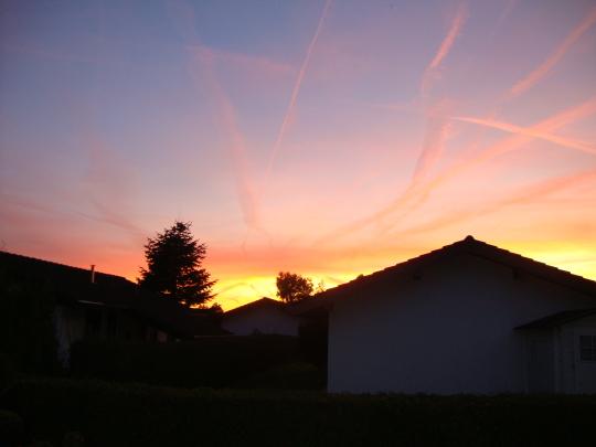 Sonnenuntergang Ferienhaus Welteroth